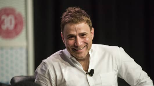 Stewart Butterfield, co-founder and chief executive officer of Slack Technologies Inc. at South By Southwest (SXSW) Interactive Festival on Tuesday, March 15, 2016.