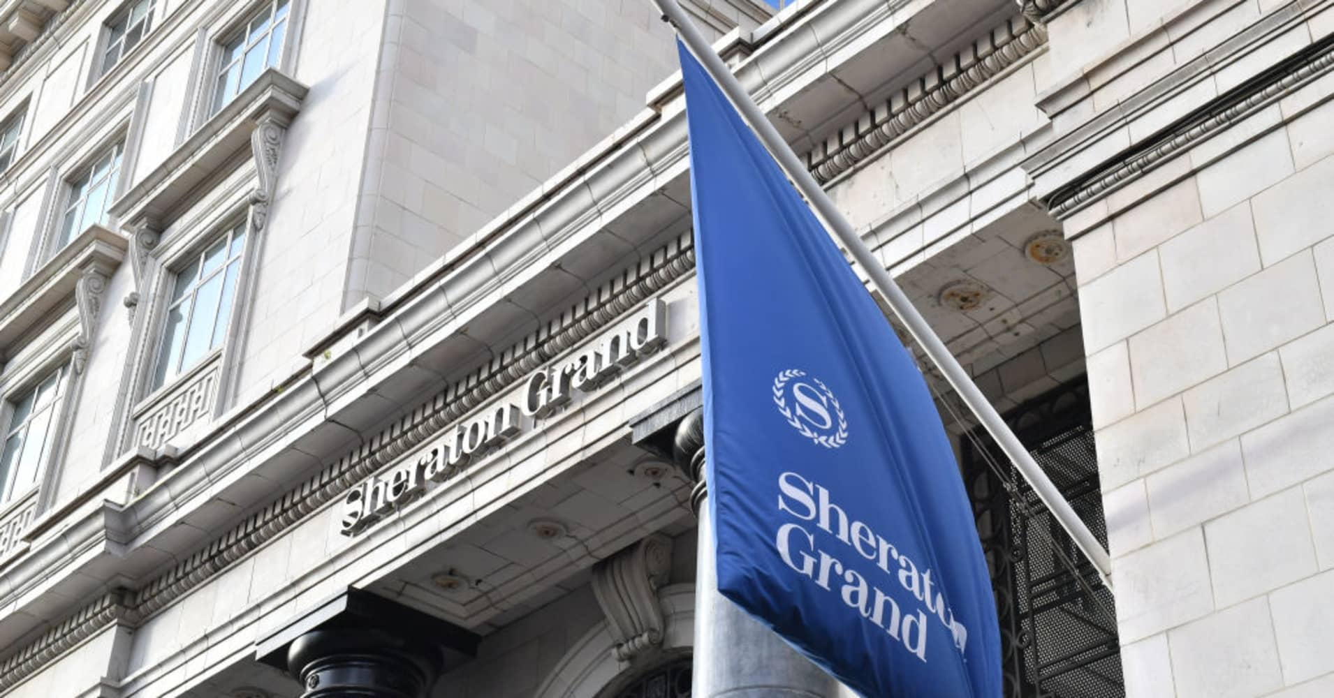 The Park Lane Sheraton Grand in London, a Marriott Starwood hotel. Marriott has announced 500 million guests' data may have been exposed during breaches.