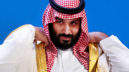 Saudi Crown Prince Mohammed bin Salman prepares for a family photo during the G20 leaders summit in Buenos Aires, Argentina November 30, 2018.