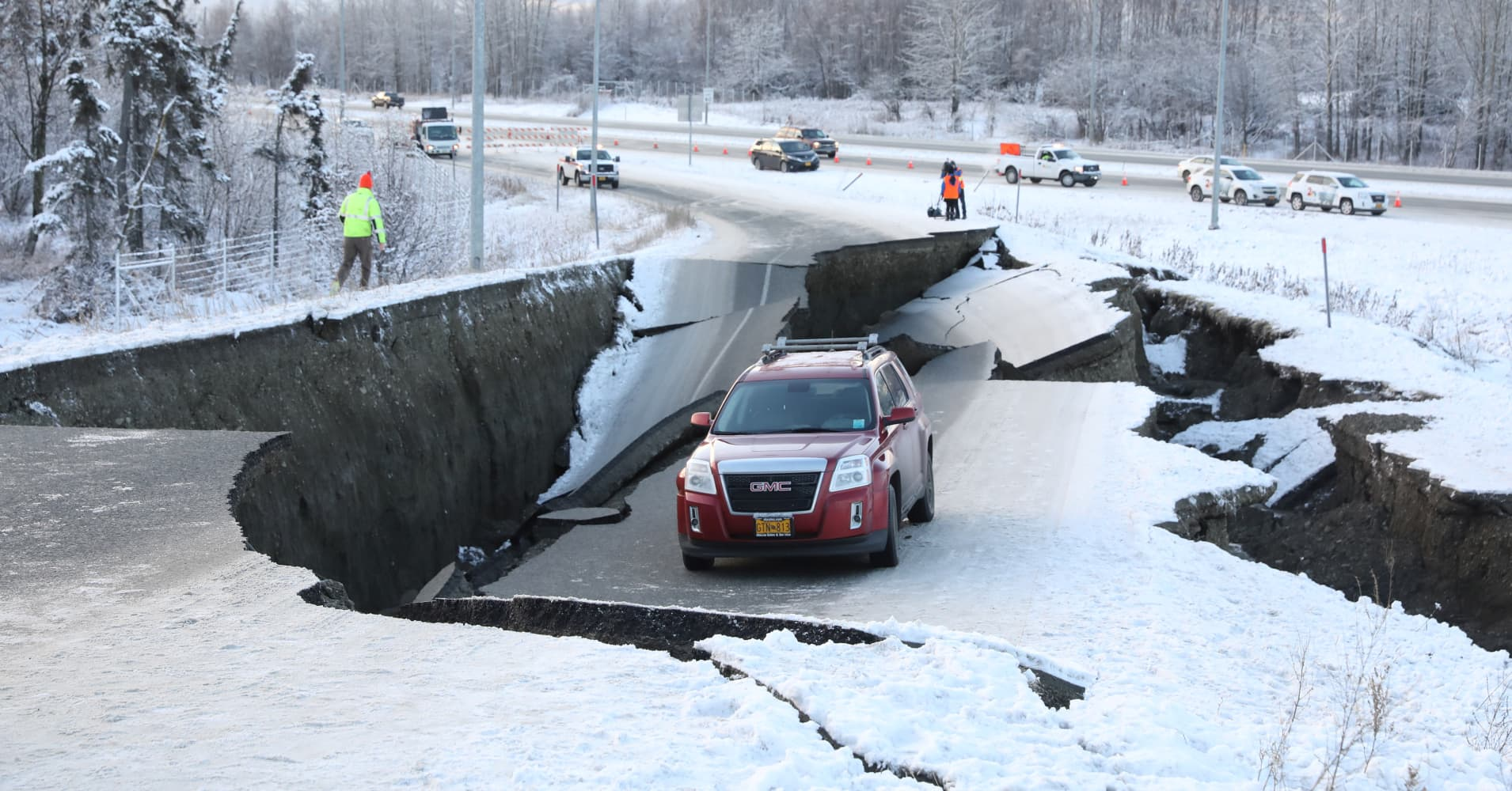 Major earthquake damages infrastructure near Anchorage, Alaska