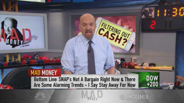 Snap still isn't a bargain, even at $6, says Cramer