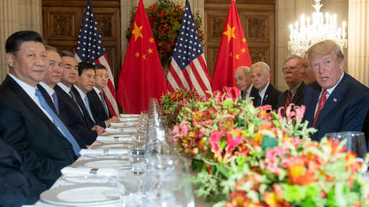 US will hold off on raising China tariffs to 25% as Trump and Xi agree to a 90 day trade truce