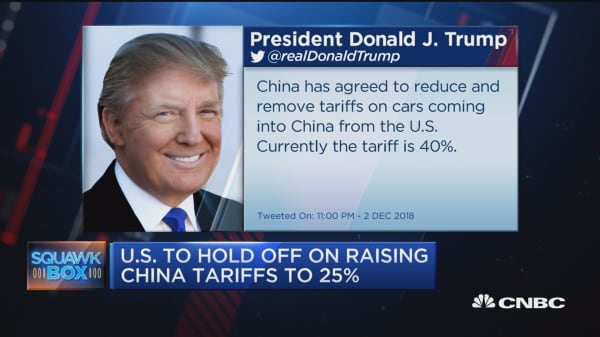 US to hold off on raising China tariffs to 25 percent