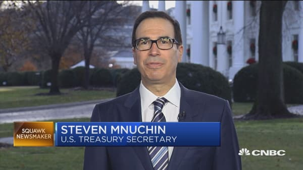 Mnuchin says we're working toward a real agreement with China
