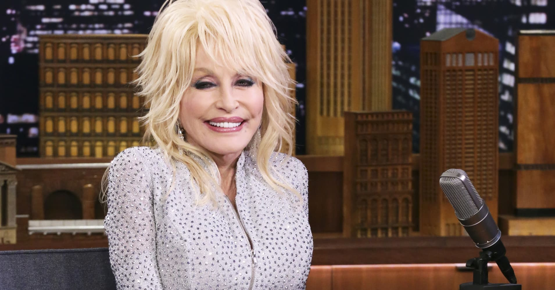 Dolly Parton on The Tonight Show with Jimmy Fallon.