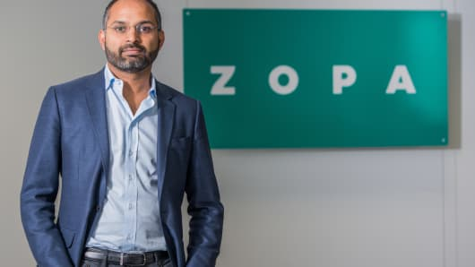 Jaidev Janardana, CEO of peer-to-peer lender Zopa.