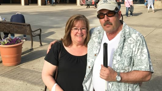 Mary Desorcy hopes the government will cancel the student loans she took out for her son, before he became legally blind.