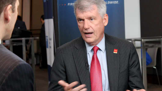 Tim Sloan, CEO of Wells Fargo, in an interview during the Goldman Sachs U.S. Financial Services Conference on December 4, 2018.