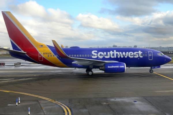 A Southwest Airlines Boeing 737 passenger jet