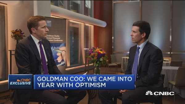 Goldman COO: The real economy is doing quite well despite market volatility