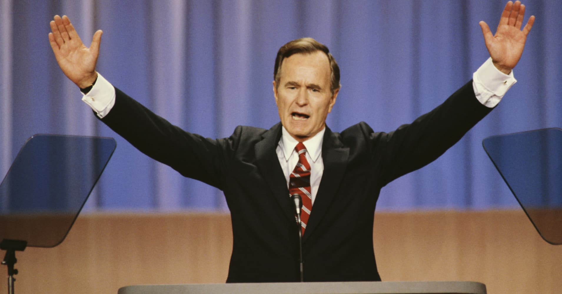 George HW Bush's compromise on raising taxes defied conservatives – and altered American politics