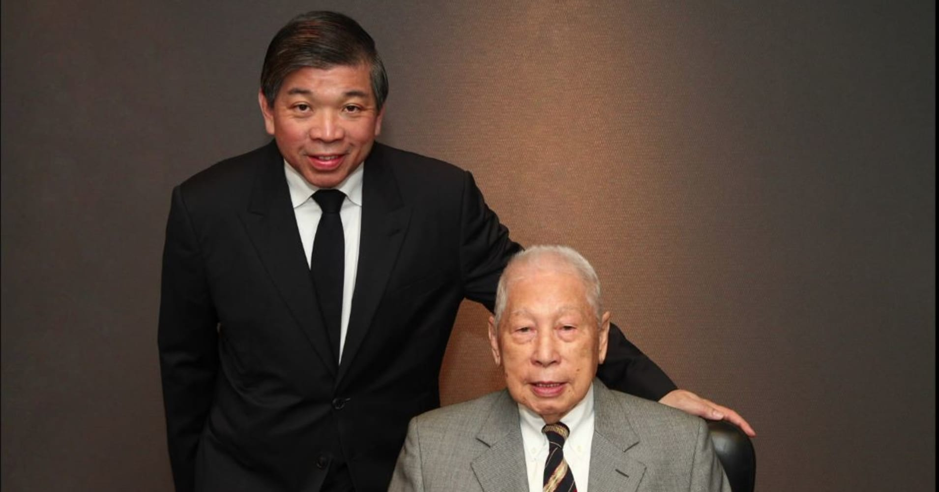 Teo Siong Seng (left), executive chairman, and Chang Yun Chung, founder and chairman emeritus of Pacific International Lines.