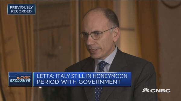 Letta: Italian government in honeymoon period that could end in months