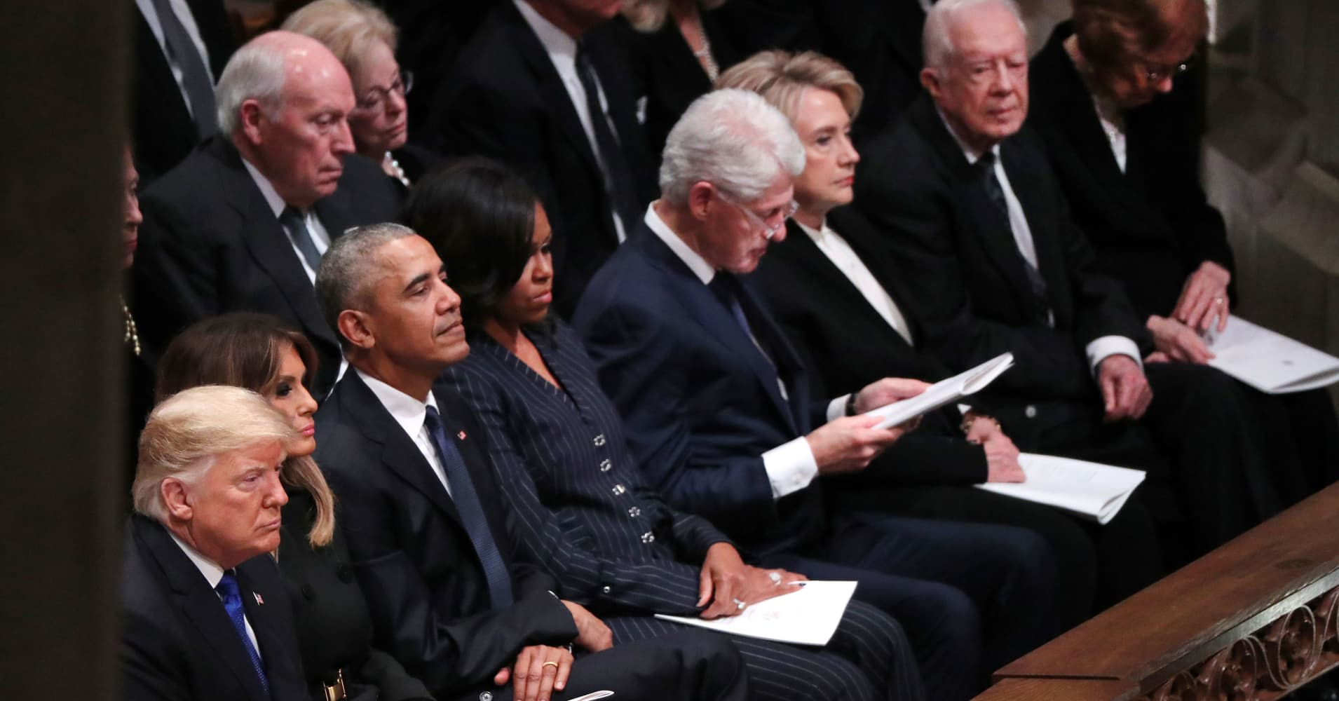 What Is Civility In Politics >> Trump, Obama, Clinton, Carter come together at George HW Bush funeral