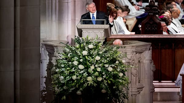 Bush's biographer delivers eulogy at former president's funeral