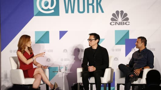 Managing Director and Principal of Gensler Hao Ko and WeWork Chief Product Officer Shiva Rajaraman were interviewed by Julia Boorstin at CNBC's Capital@Work Summit on December 3, 2018 in San Francisco, CA.