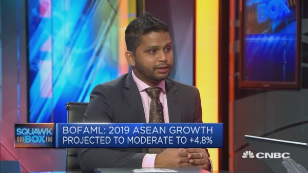 BofAML expects ASEAN region to slow 'quite a bit' in 2019