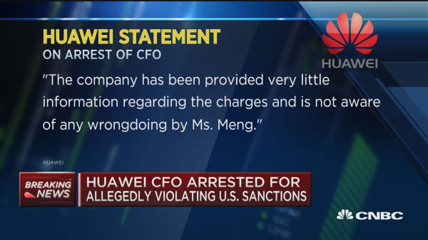 Huawei CFO arrest for allegedly violating US sanctions