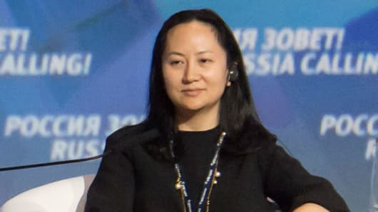 "Meng Wanzhou, Executive Board Director of the Chinese technology giant Huawei, attends a session of the VTB Capital Investment Forum ""Russia Calling!"" in Moscow, Russia October 2, 2014."
