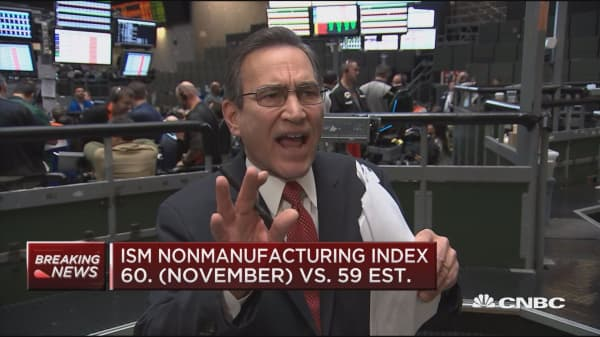 Nonmanufacturing index sees 'big bonus' for end of October