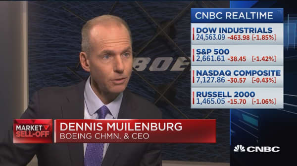Boeing CEO says he's encouraged by trade talk between US and China