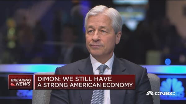 Jamie Dimon says the trade battle with China is behind the market volatility