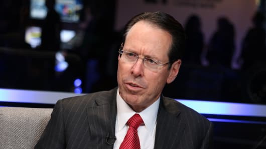 Randall Stephenson, CEO of AT&T, speaking at the Business Roundtable CEO Innovation Summit in Washington, DC. on Dec. 6th, 2018.