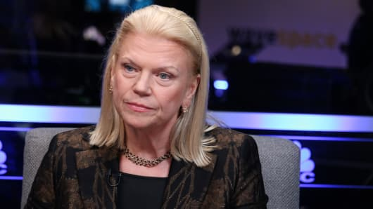 Ginni Rometty, CEO of IBM, vocalization during a Business Roundtable CEO Innovation Summit in Washington, DC on Dec. 6th, 2018.
