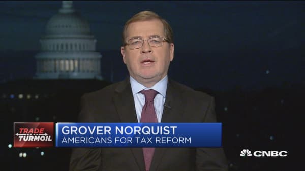 The trade war is one where you're shooting your own team, says Grover Norquist