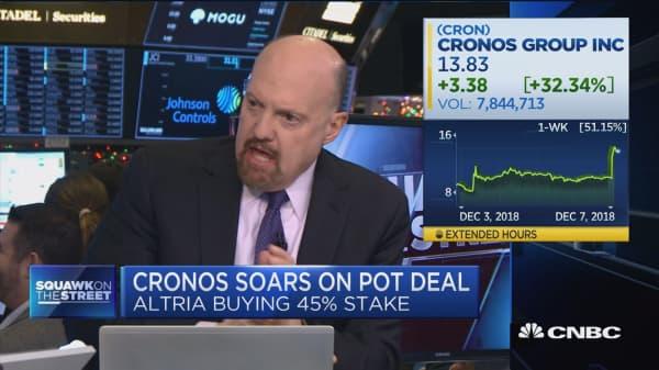 Altria needed Cronos deal to show a 'pulse', says Jim Cramer