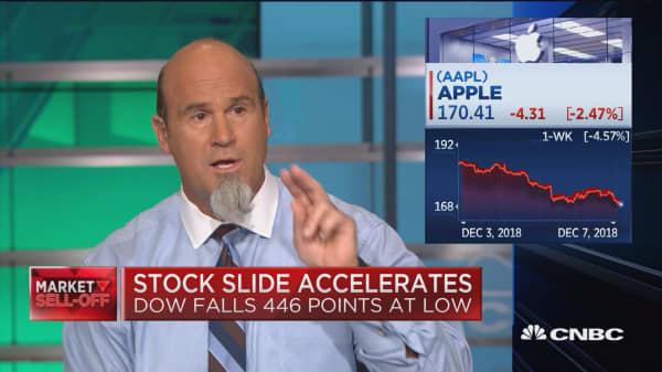 Apple shares fall after price target slash