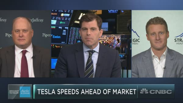 Tesla has bucked the sell-off to outperform the rest of the Nasdaq
