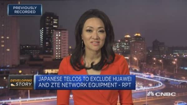 Japan's top three telco firms exclude Huawei and ZTE from 5G networks