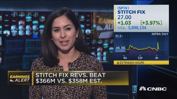 StitchFix beats quarterly earnings estimate