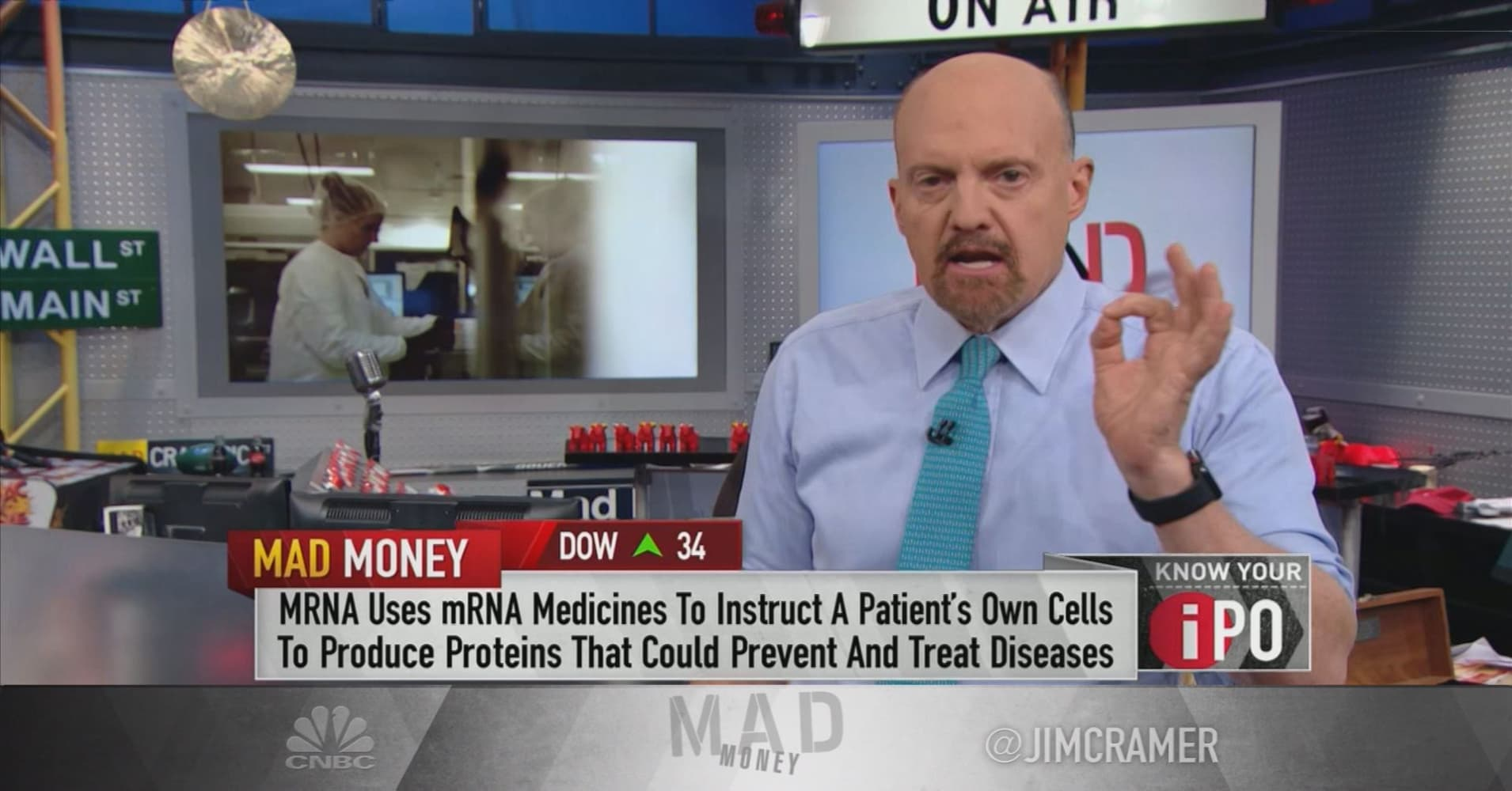 Don't judge early-stage biotech Moderna on its stock's post-IPO drop: Cramer