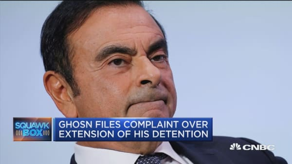 Ghosn files complaint over extension of his detention