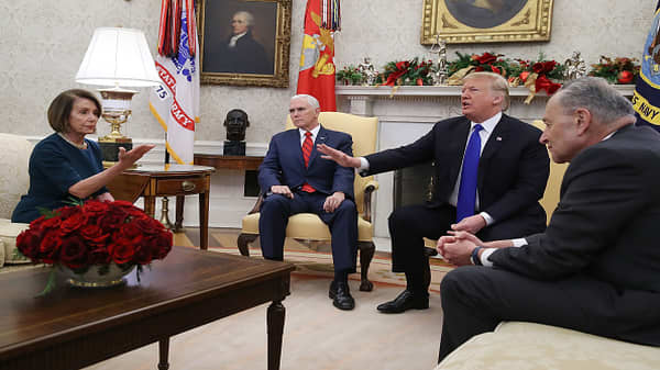 Trump, Pelosi and Schumer get into a heated Oval Office fight over border wall and shutdown