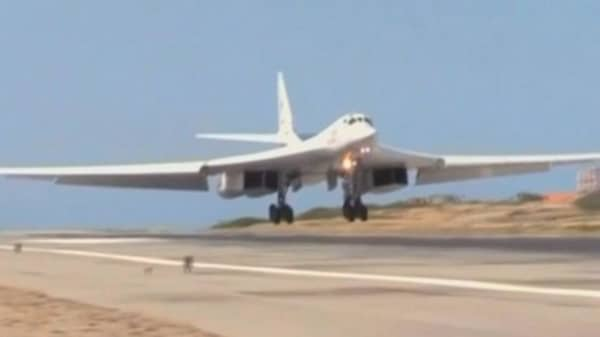 Nuclear capable Russian bombers land in Venezuela