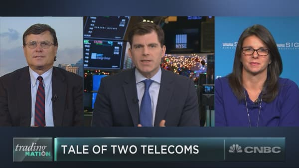 These two telecom stocks are having wildly different years