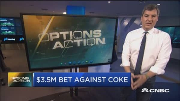 One trader just made a $3.5 million bet against Coca-Cola and here's why
