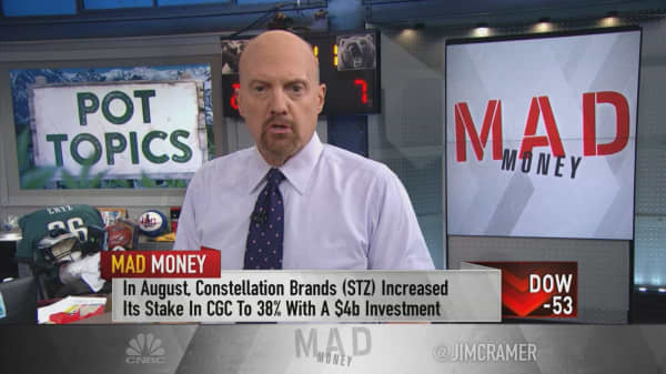 Canopy Growth still best way to play Canadian cannabis even with Cronos-Altria deal: Cramer