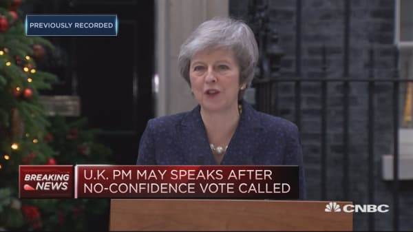 Theresa May: I will contest no confidence vote with everything I've got