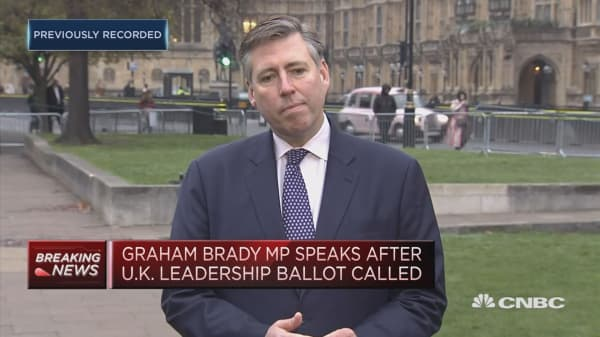 Graham Brady speaks after no confidence vote in May triggered