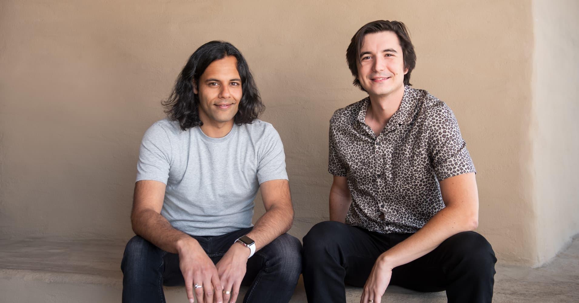 Robinhood CEOs Baiju Bhatt and Vlad Tenev.