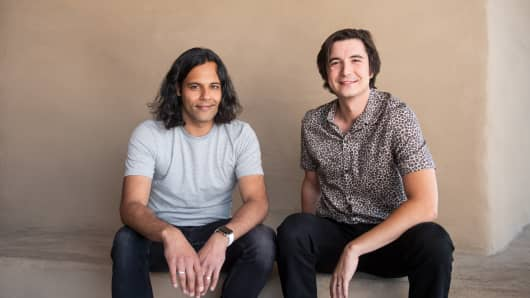 Robinhood CEOs Baiju Bhatt and Vlad Tenev.