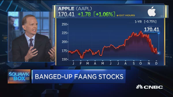 Apple in negative territory for 2018