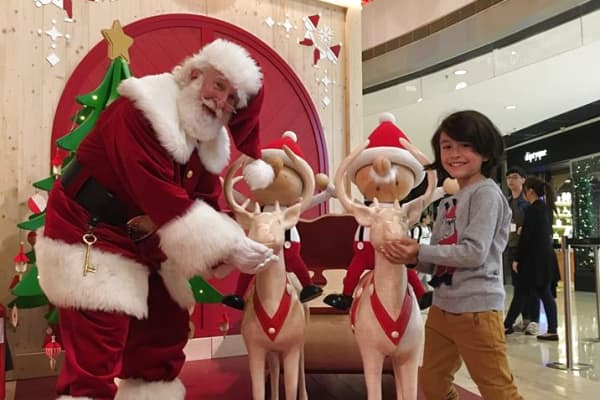 Santa Rick at Hong Kong's IFC mall in November 2018.