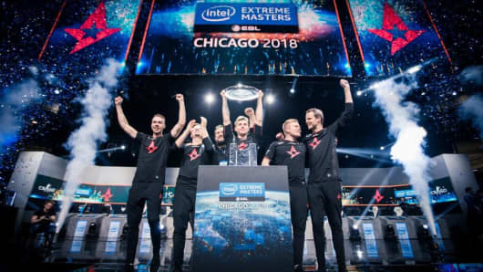 Participants in the Intel Extreme Masters tournament in Chicago,  November 2018.