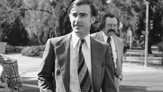 California Gov. Edmund G. Brown Jr., shown walking to a speaking engagement in Sacramento on Feb. 21, 1975.