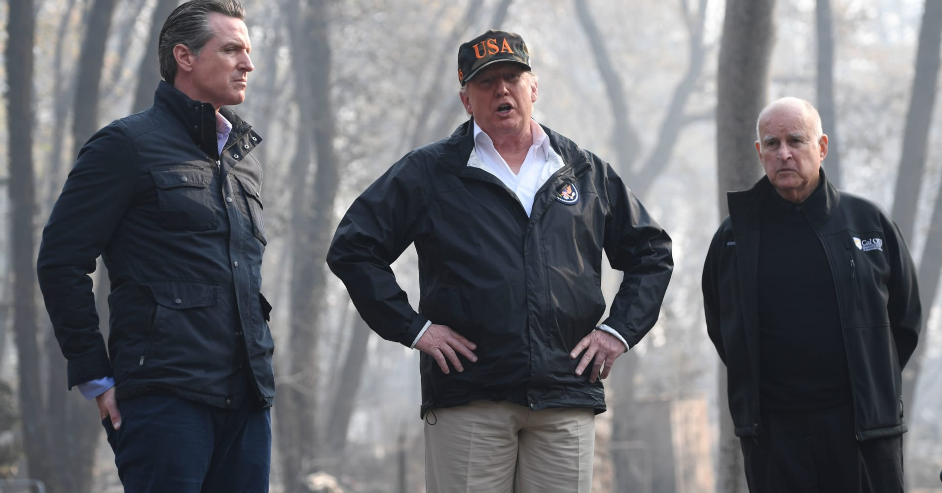 Trump threatens to cut off federal funding for California wildfire relief
